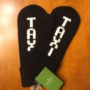 NWT Kate Spade TAXI Mittens